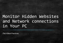 monitor hidden websites and connections in your pc