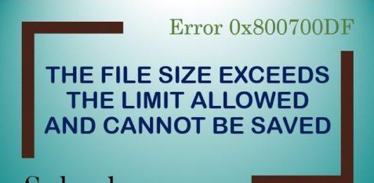 Error 0x800700DF