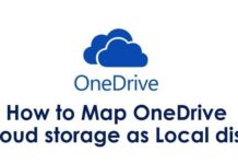 How to map your cloud storage(onedrive) as a local disk or network drive