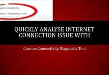 Quickly test your internet connectivity issue with chrome connectivity diagnostics
