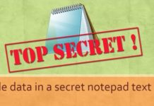 Amazing Notepad Trick! How to Hide Data in a Secret Text File
