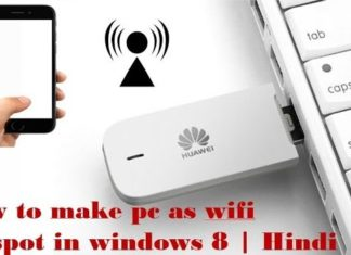 How to make your PC as WiFi hotspot
