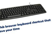 web browser keyboard shortcut