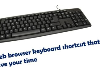 web browser keyboard shortcut