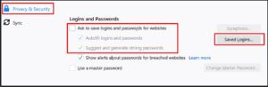 Firefox disable save password prompt